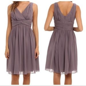 Donna Morgan 'Jessie' lavender silk chiffon dress